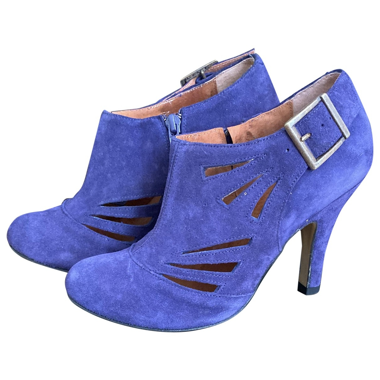 Steve Madden \N Purple Suede Ankle boots for Women 7 US