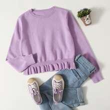 Pullover mit Rueschen