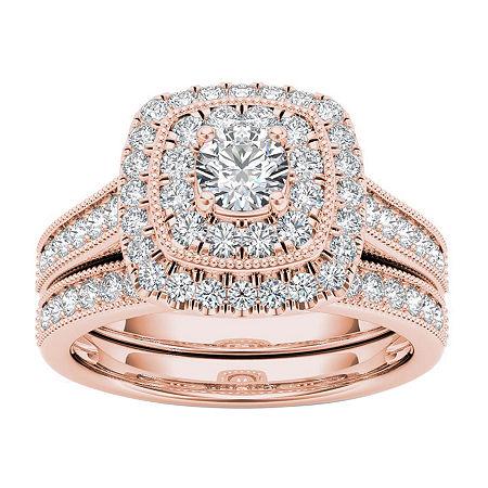 Womens 3/4 CT. T.W. Genuine White Diamond 14K Gold Bridal Set, 6 1/2 , No Color Family