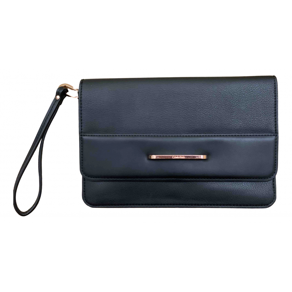 Calvin Klein \N Clutch in  Schwarz Leder