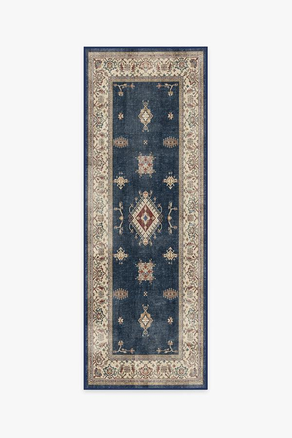 Washable Rug Cover & Pad | Verena Sapphire Rug | Stain-Resistant | Ruggable | 2.5'x7'