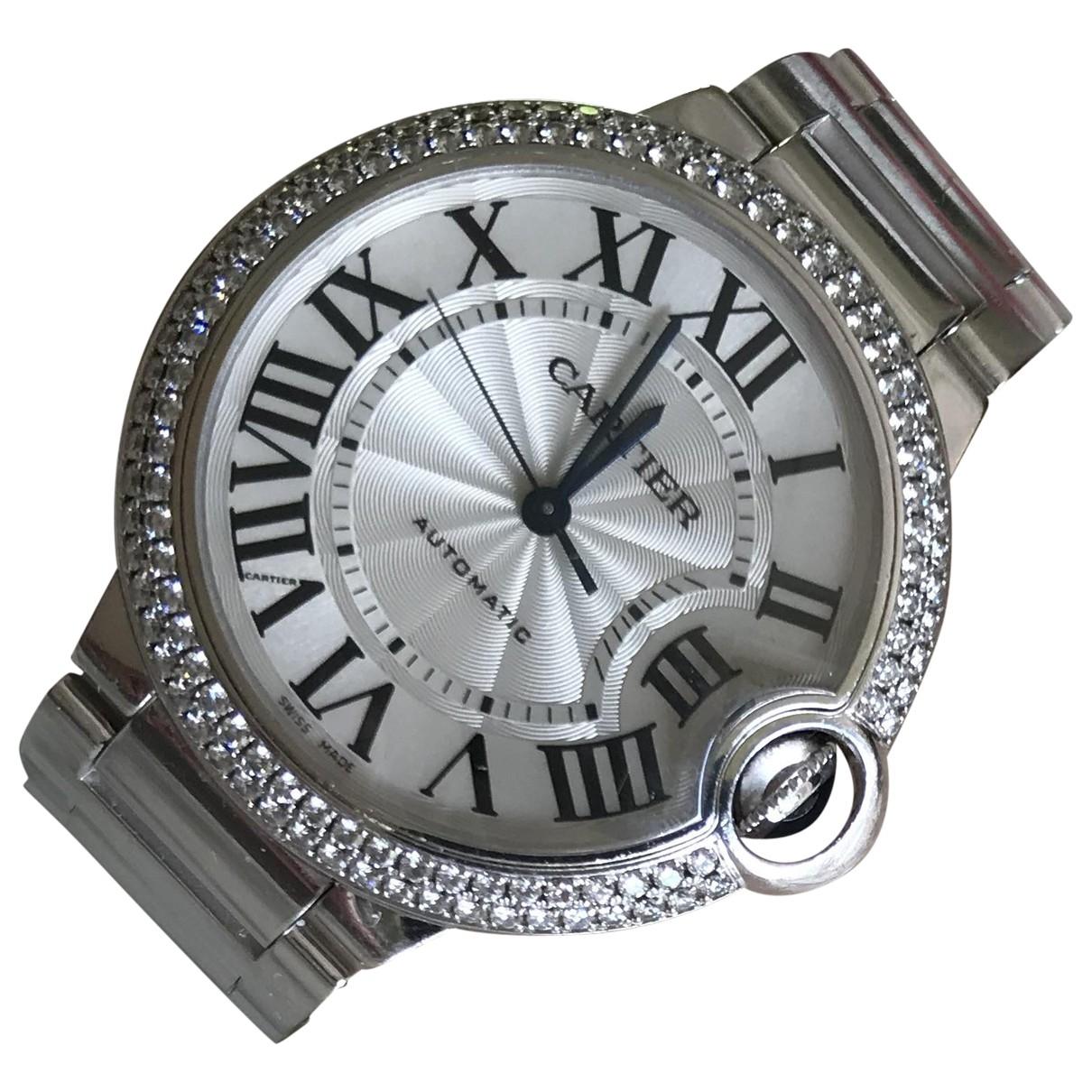 Cartier Ballon bleu Uhr in Weissgold