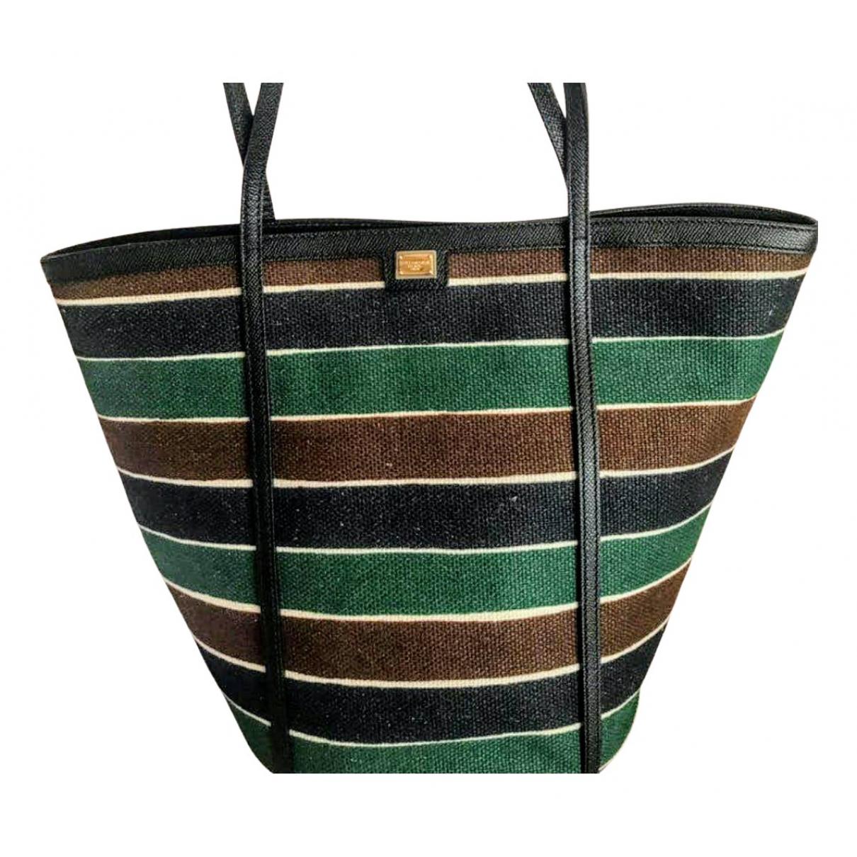 Dolce & Gabbana \N Handtasche in  Bunt Leinen