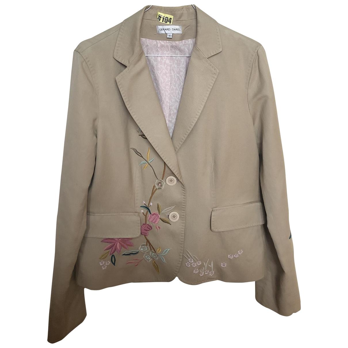 Gerard Darel - Veste   pour femme en coton - beige