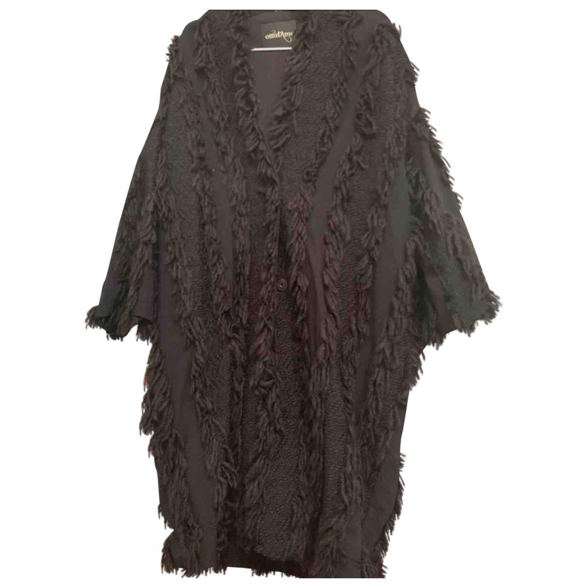 Ottod'ame \N Black Wool coat for Women 42 FR