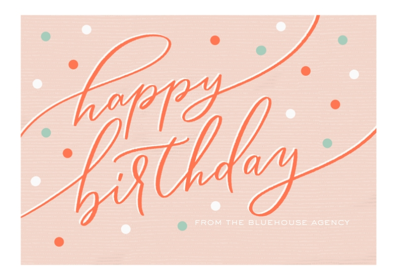 Birthday Flat Business Greeting Cards, Business Printing -Biz Birthday