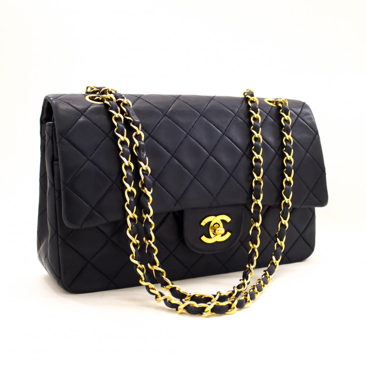 Chanel \N Navy Leather handbag for Women \N