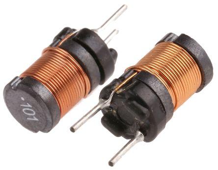 Wurth Elektronik Wurth 100 μH ±10% Ferrite Radial Inductor, 1.5A Idc, 300mΩ Rdc, WE-TI (10)