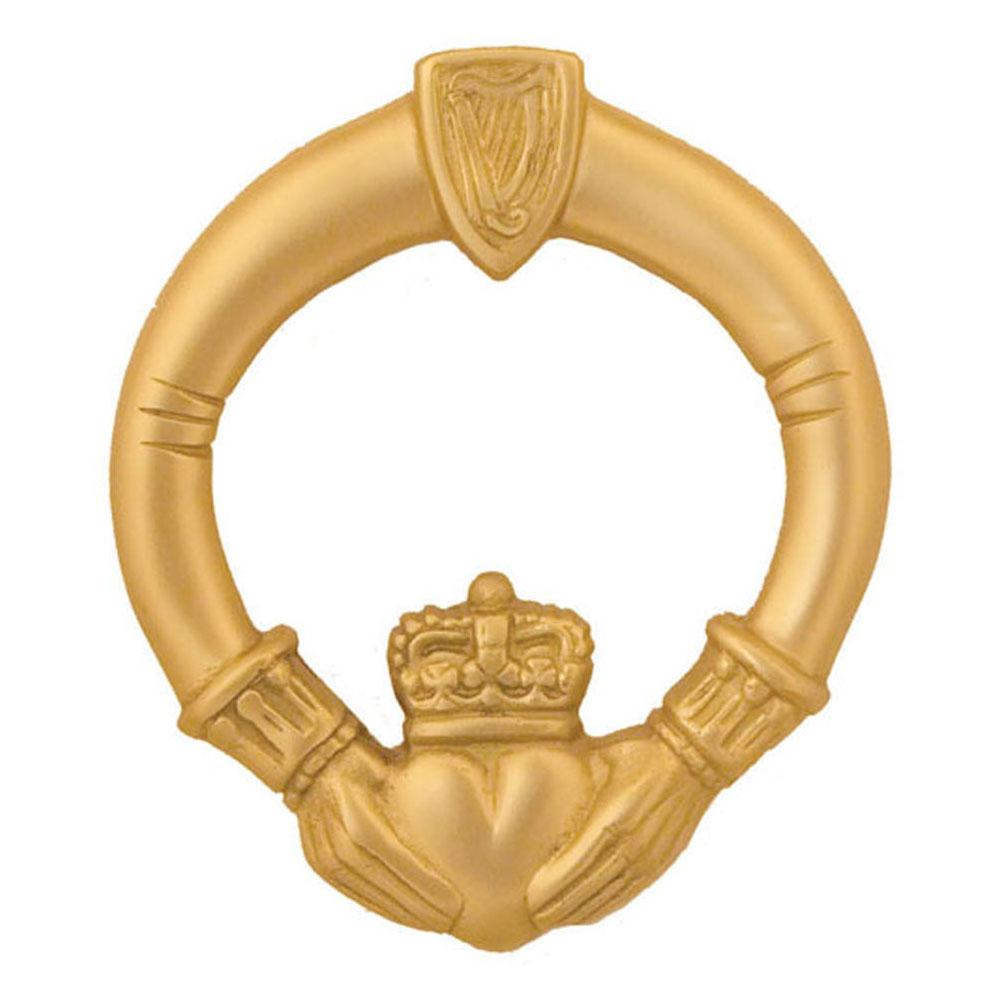 Claddagh Door Knocker - Brass