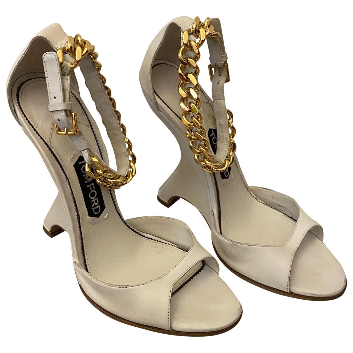Sandalias de Cuero Tom Ford