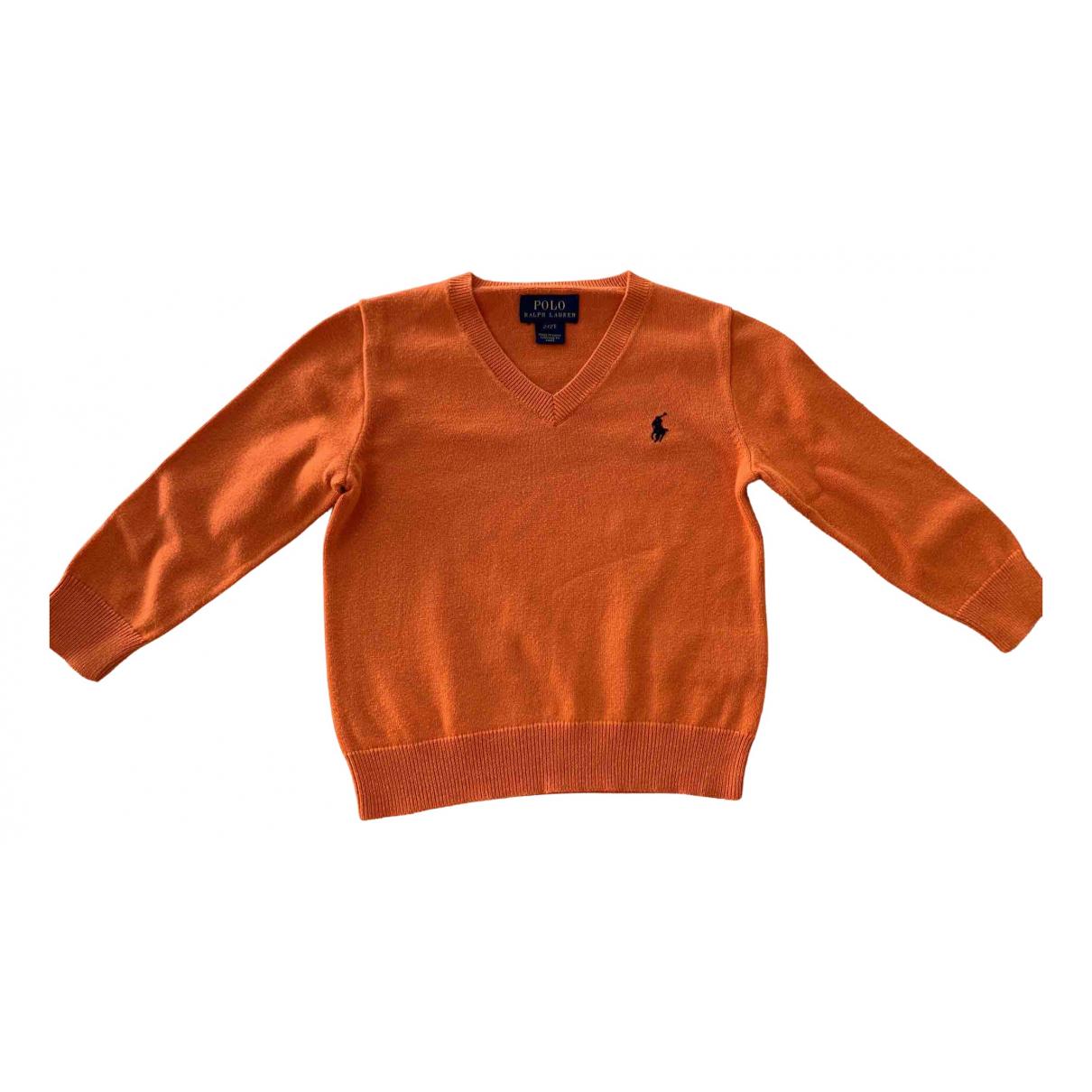 Polo Ralph Lauren - Pull   pour enfant en coton - orange