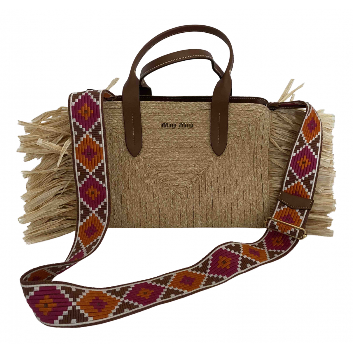 Miu Miu N Beige Wicker handbag for Women N