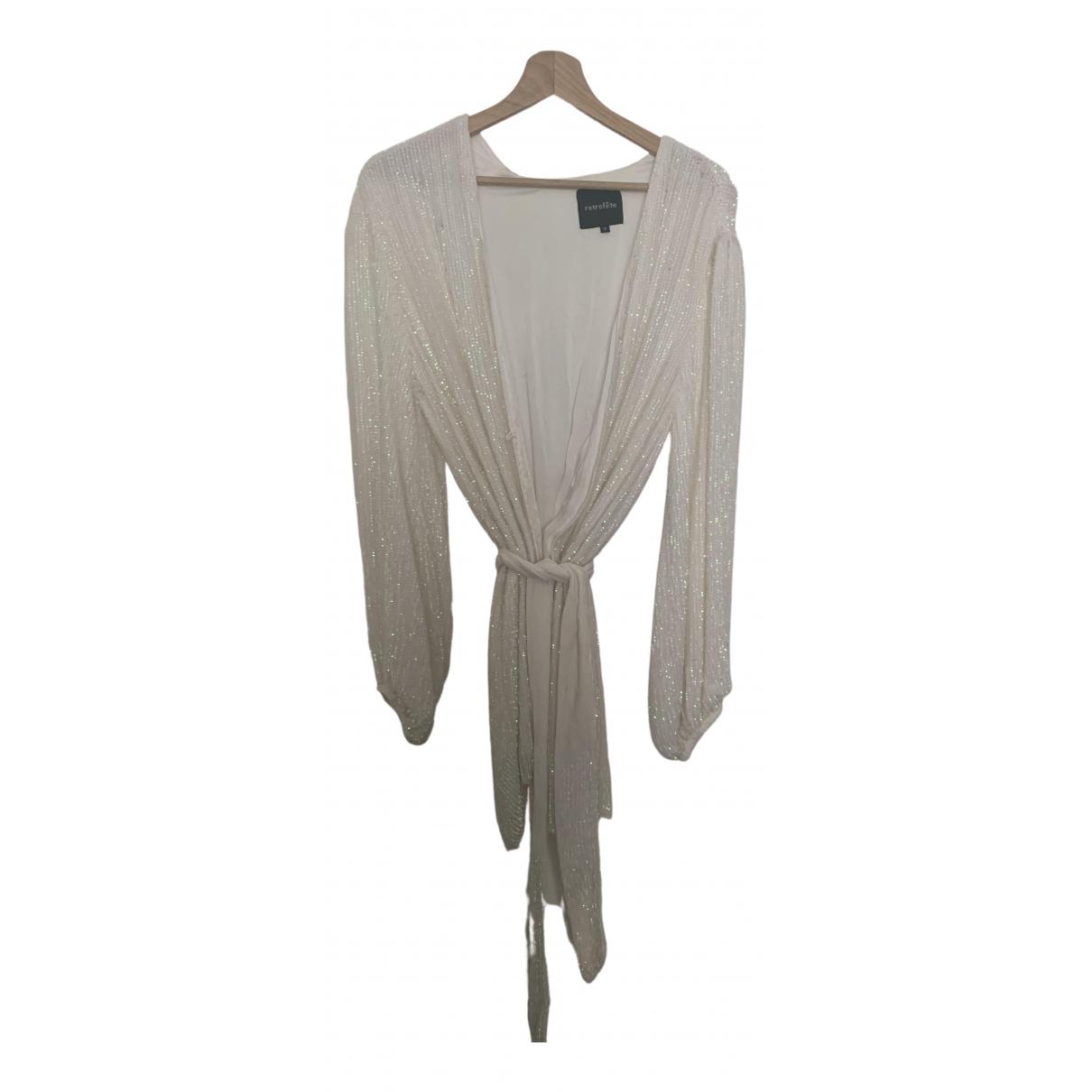 Retrofête \N White Glitter dress for Women S International