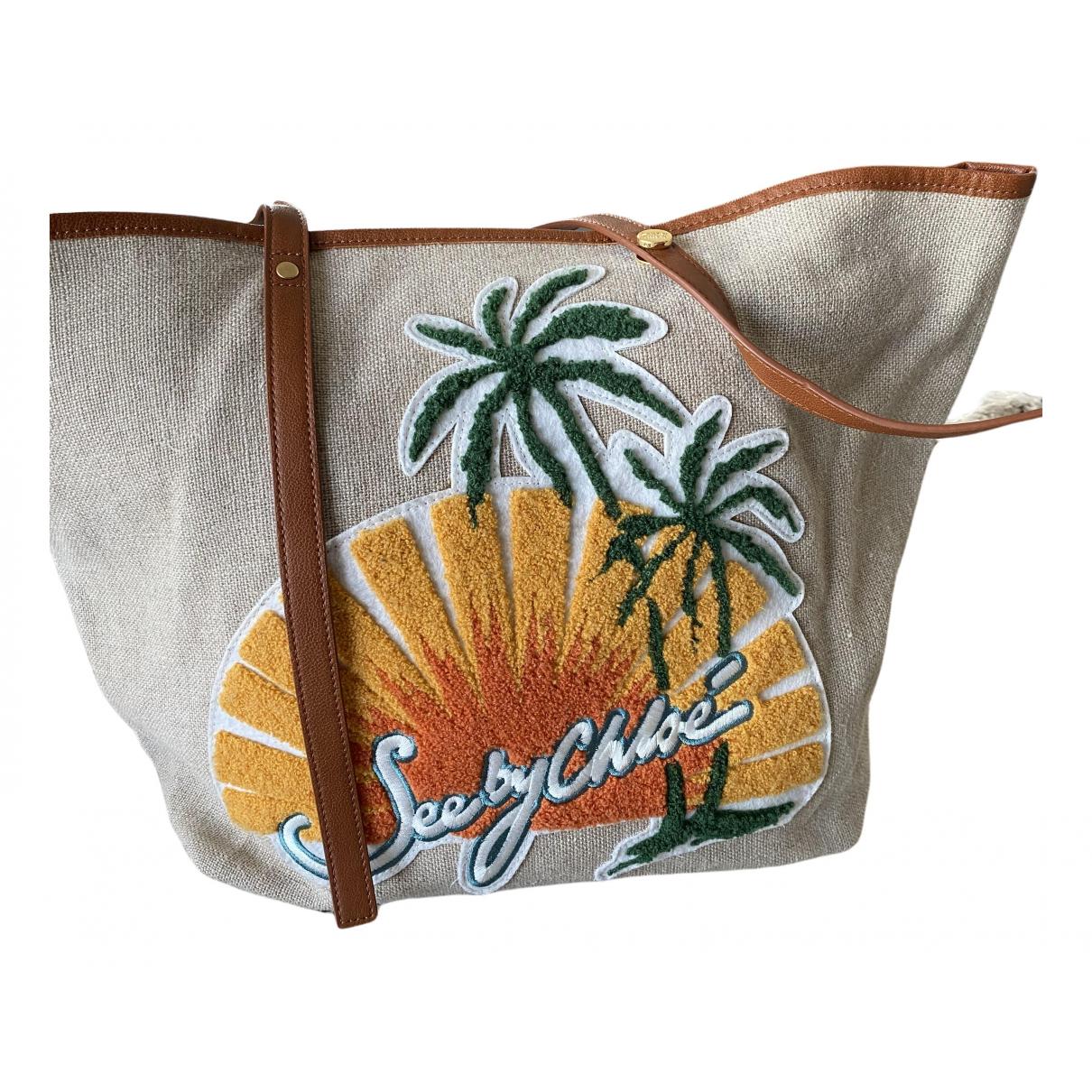 See By Chloé \N Beige Cloth handbag for Women \N