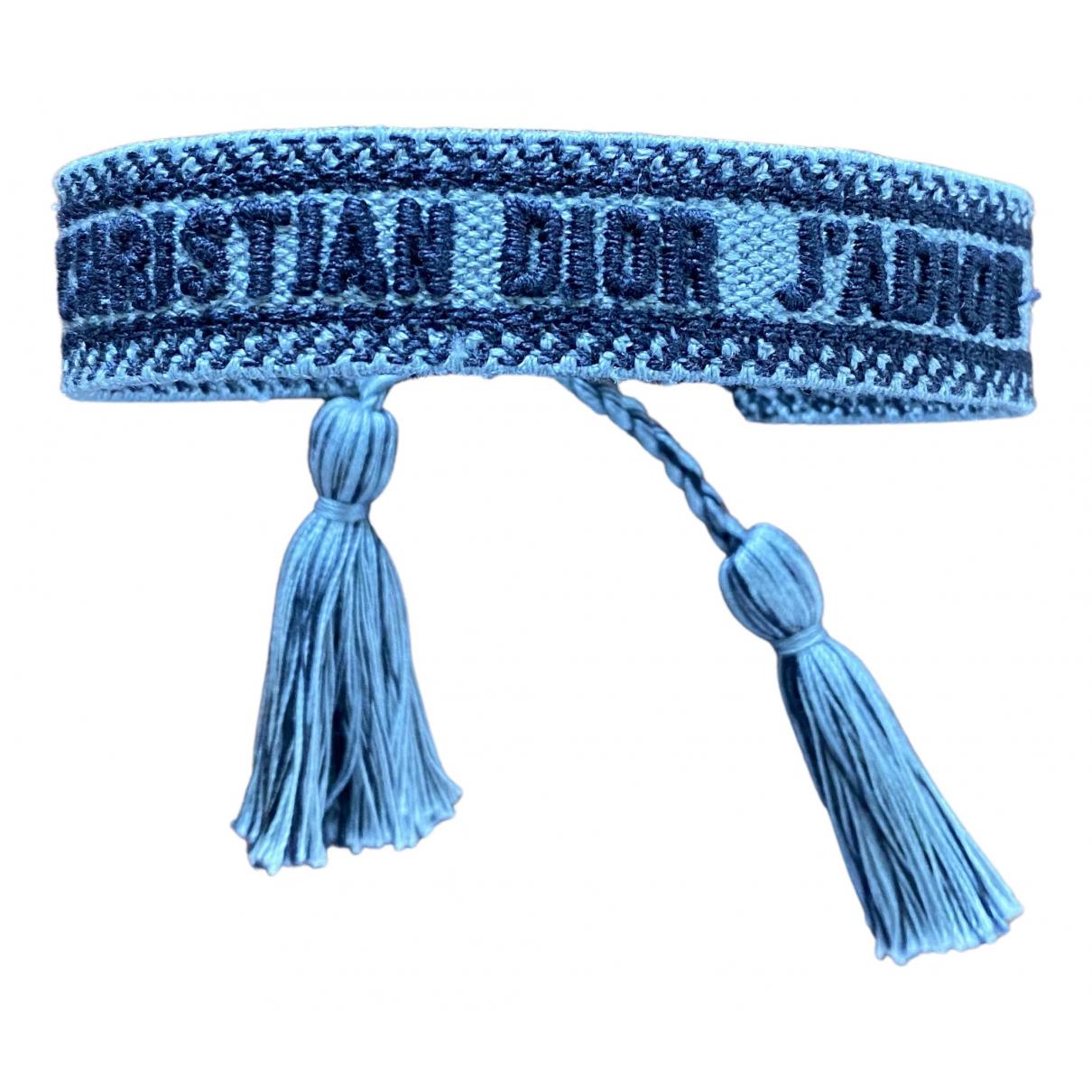 Dior - Bracelet Jadior pour femme en toile - bleu