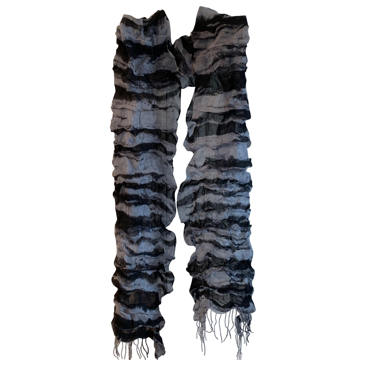 Roberto Cavalli \N Grey Wool scarf for Women \N
