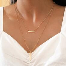 2 Stuecke Halskette mit Leiste Anhaenger