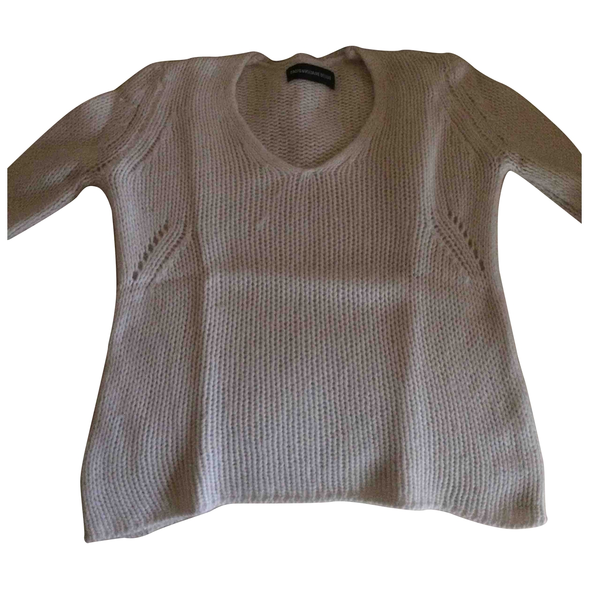 Zadig & Voltaire Spring Summer 2019 White Cashmere Knitwear for Women 34 FR