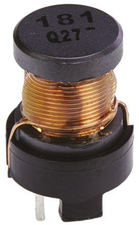 Panasonic 180 μH ±10% Ferrite Leaded Inductor, 2.1A Idc, 115mΩ Rdc, ELC16B (5)