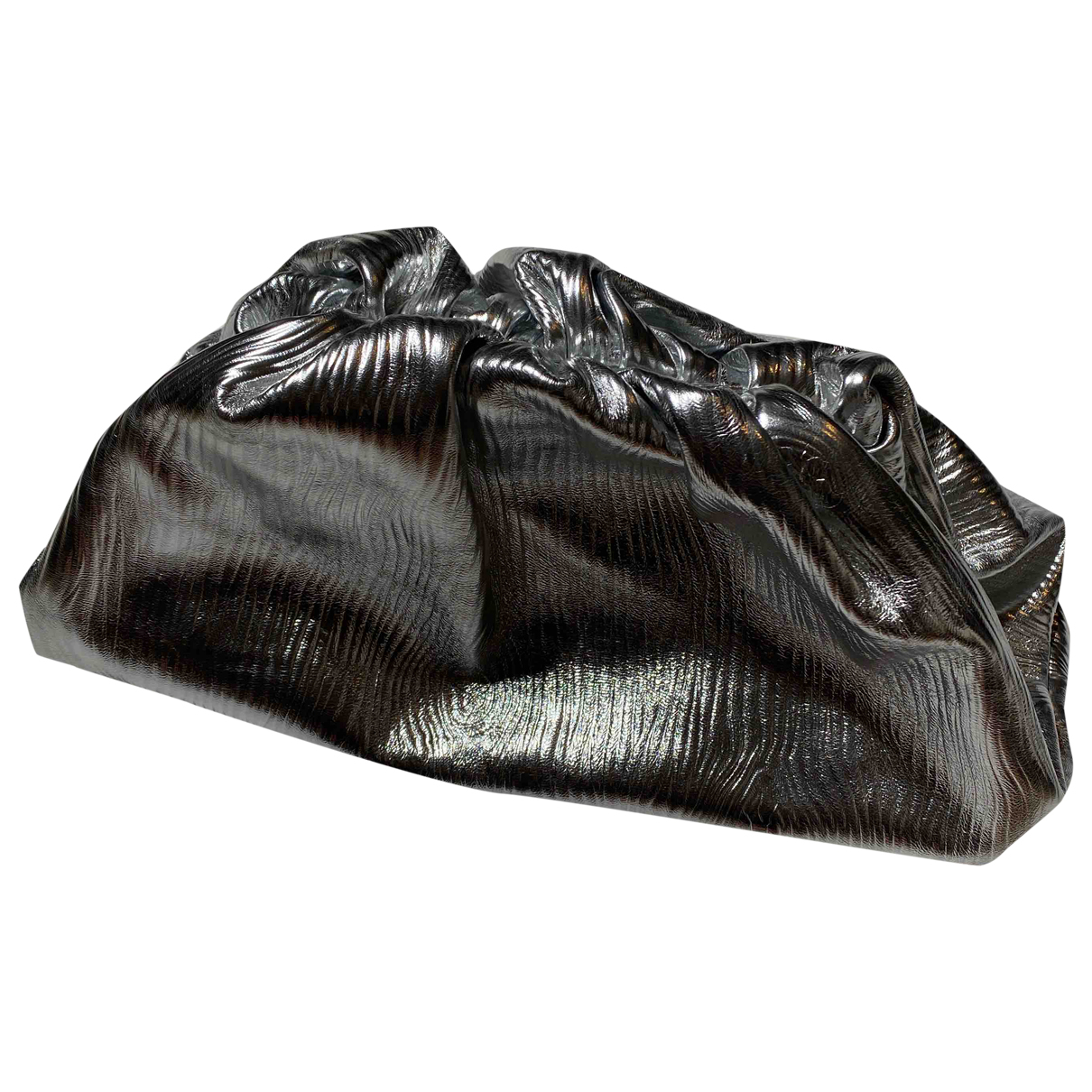 Bottega Veneta Pouch Clutch in  Silber Leder