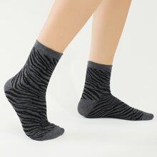 Tiger Striped Pattern Socks