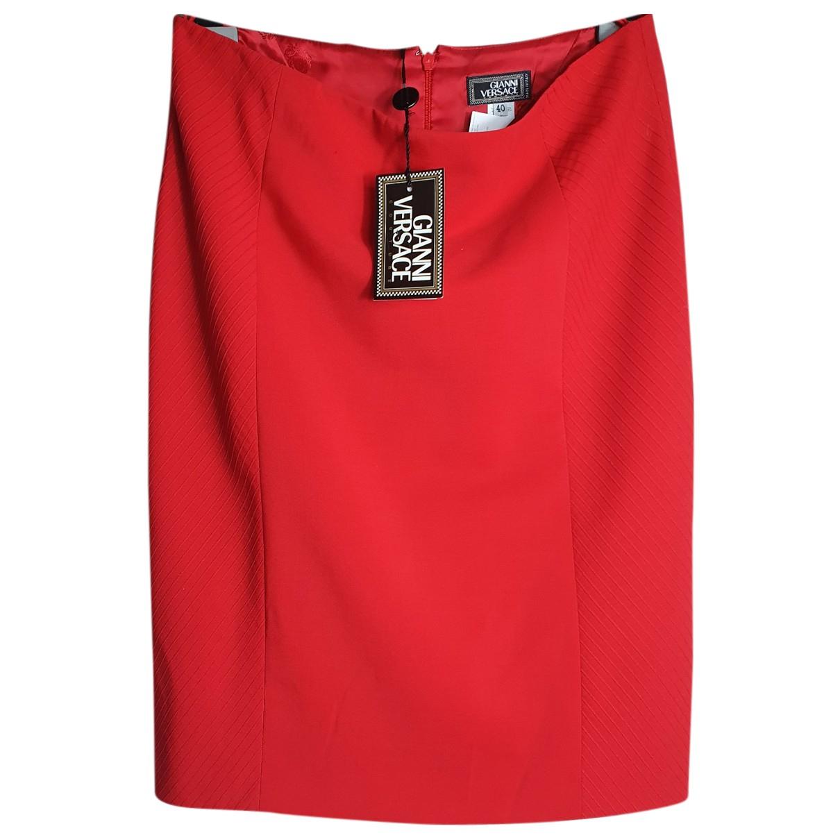 Gianni Versace \N Rocke in  Rot Wolle
