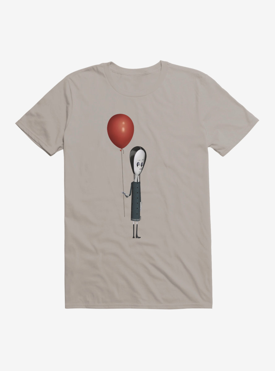 The Addams Family Wednesday And Balloon T-Shirt