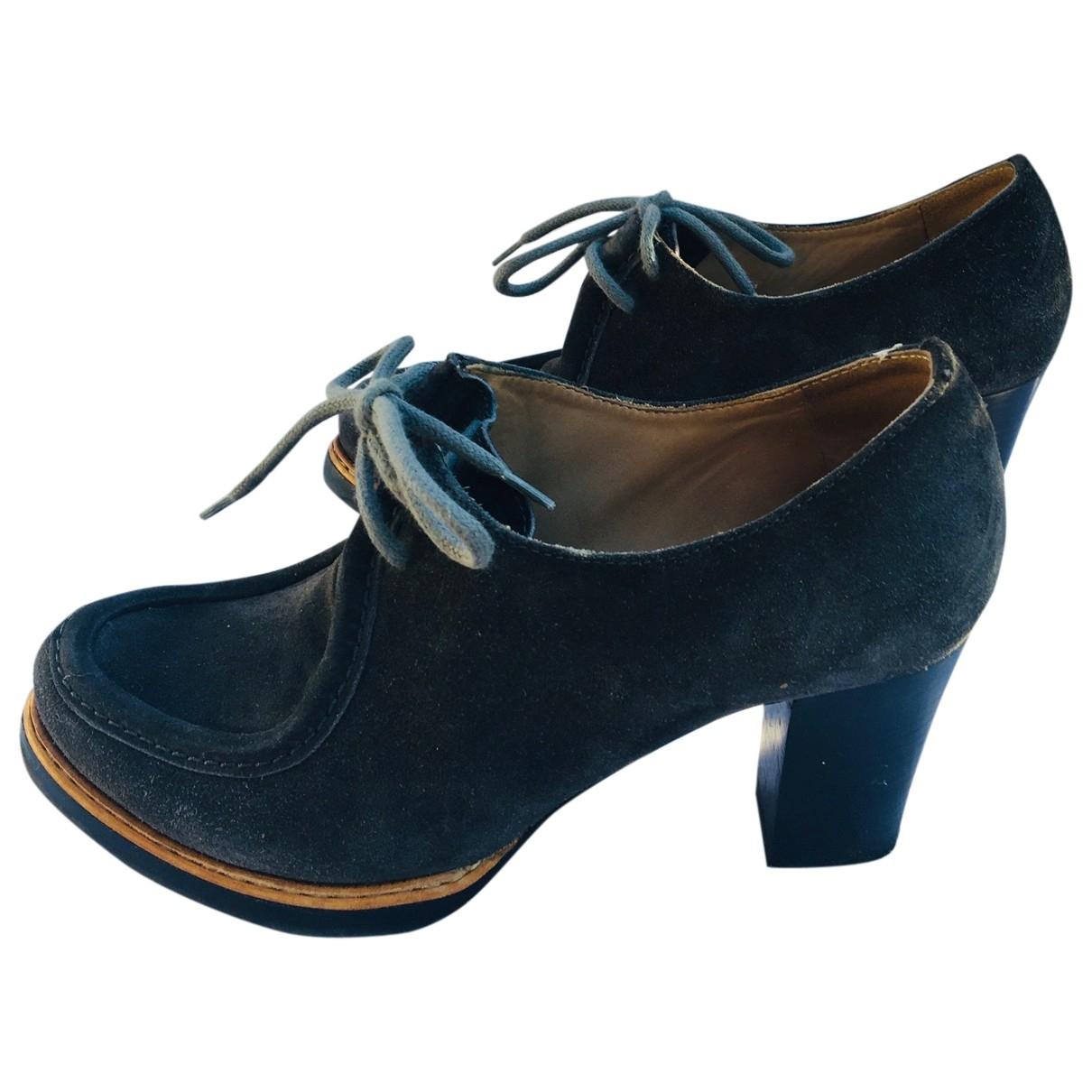 Jil Sander - Escarpins   pour femme en cuir - gris