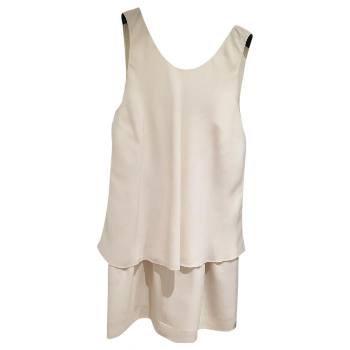 Chanel - Robe   pour femme en soie - ecru