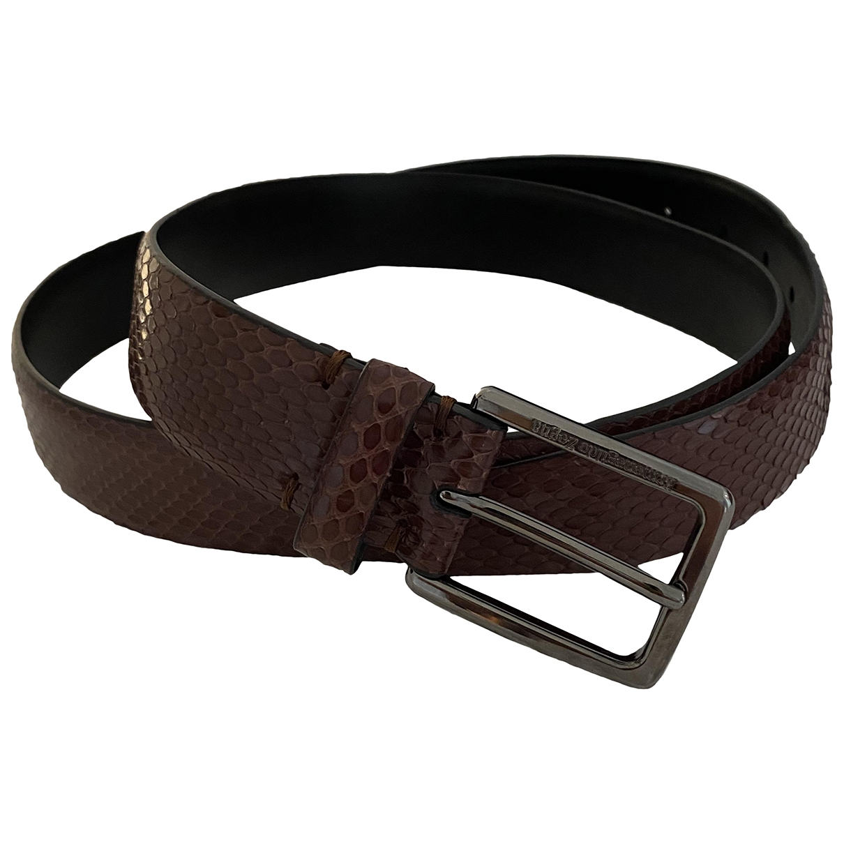 Cinturon de Piton Ermenegildo Zegna