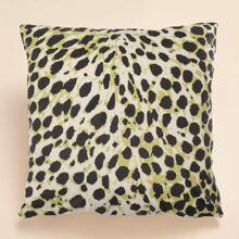 Funda de cojin con estampado de leopardo sin relleno