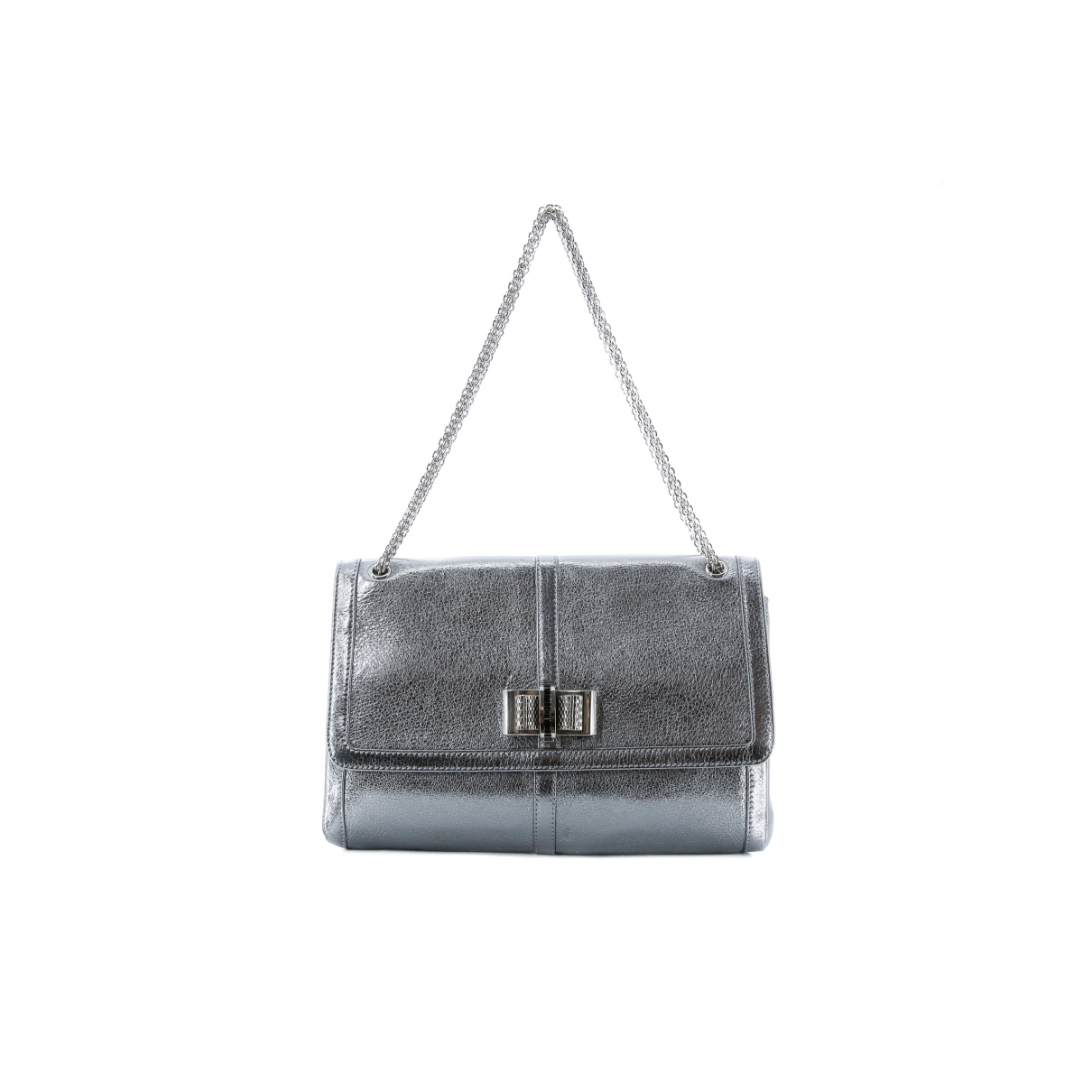 Christian Louboutin Sweet Charity Silver Leather handbag for Women \N