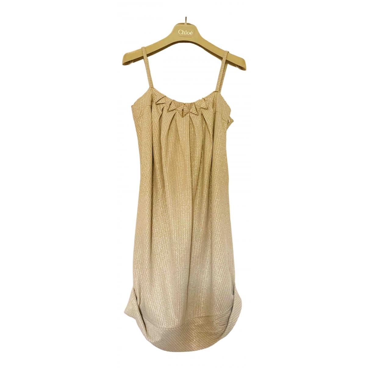 Tsumori Chisato \N Kleid in  Metallic Polyester