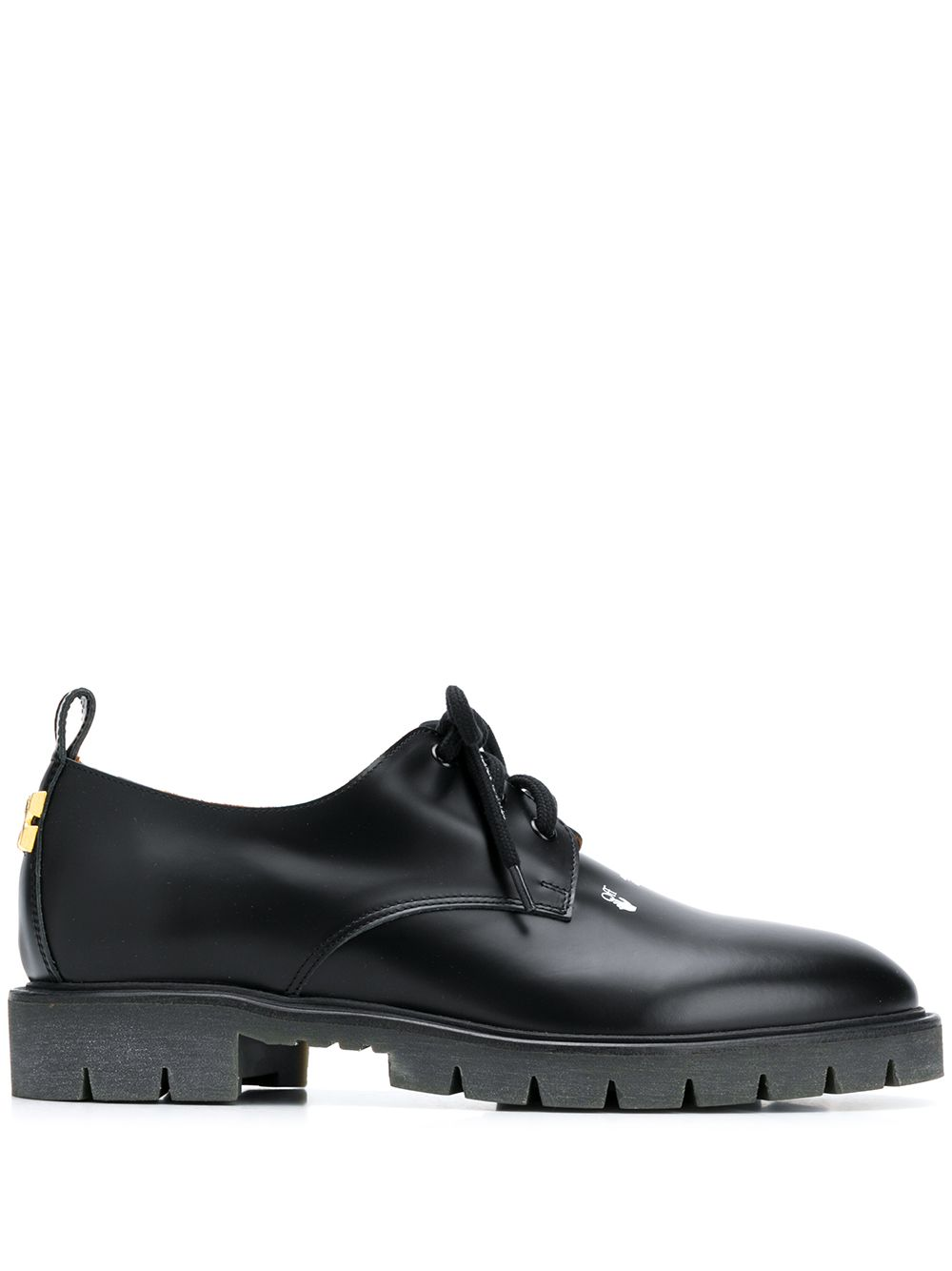 Derby Cross Leather Shoes