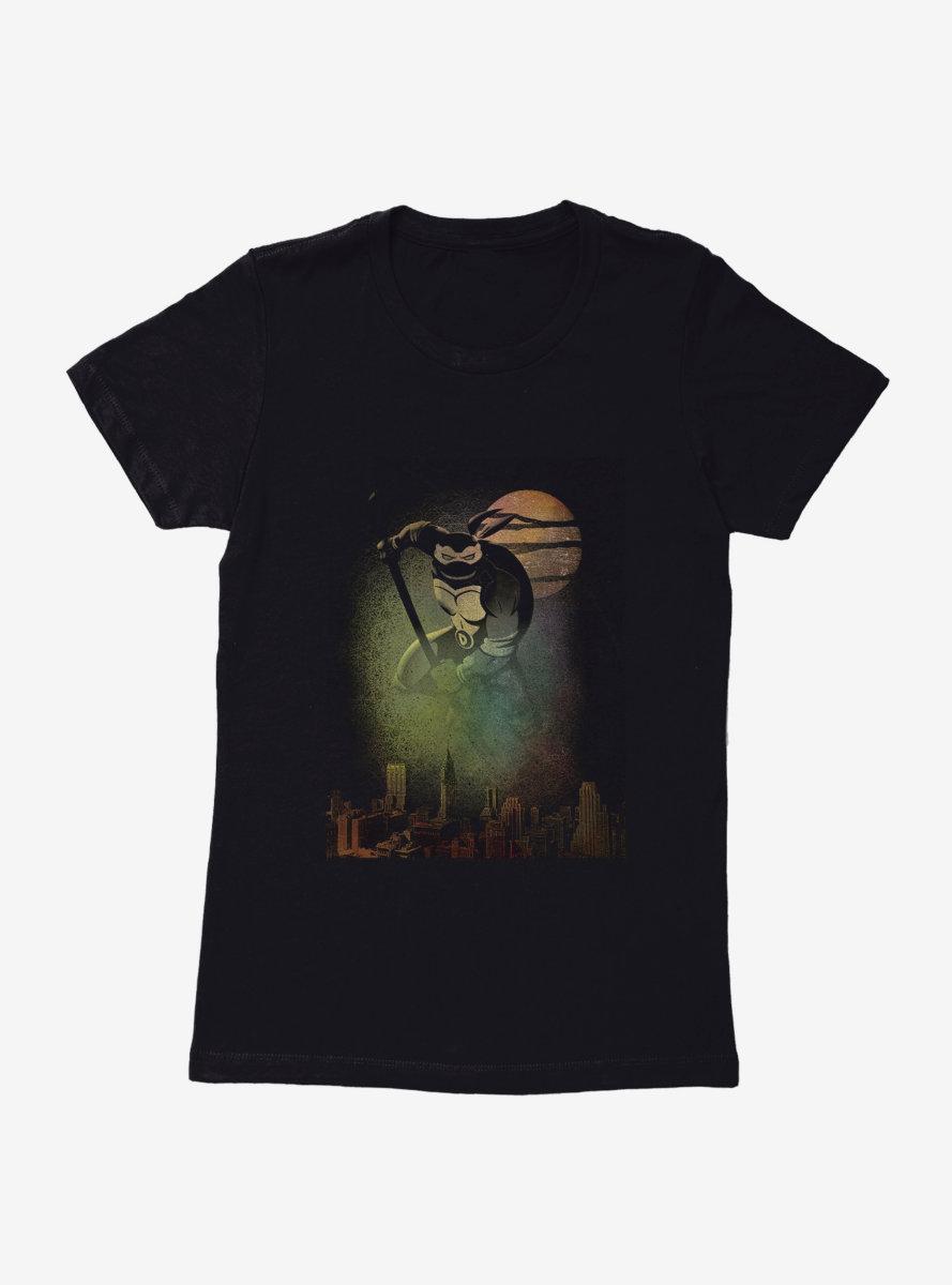 Teenage Mutant Ninja Turtles Donatello Protects The City Spray Paint Womens T-Shirt