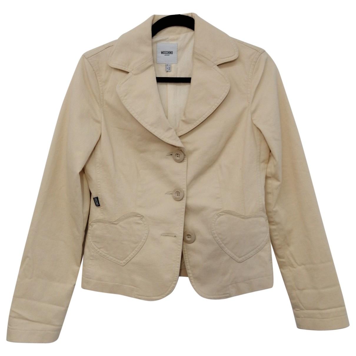 Moschino - Veste   pour femme en coton - beige