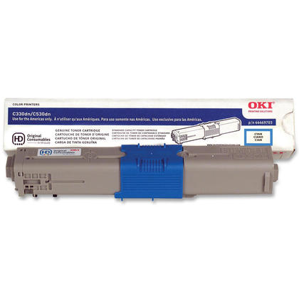 Okidata 44469703 Type C17 Original Cyan Toner Cartridge