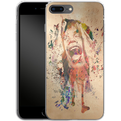 Apple iPhone 8 Plus Silikon Handyhuelle - Scream von Mark Ashkenazi