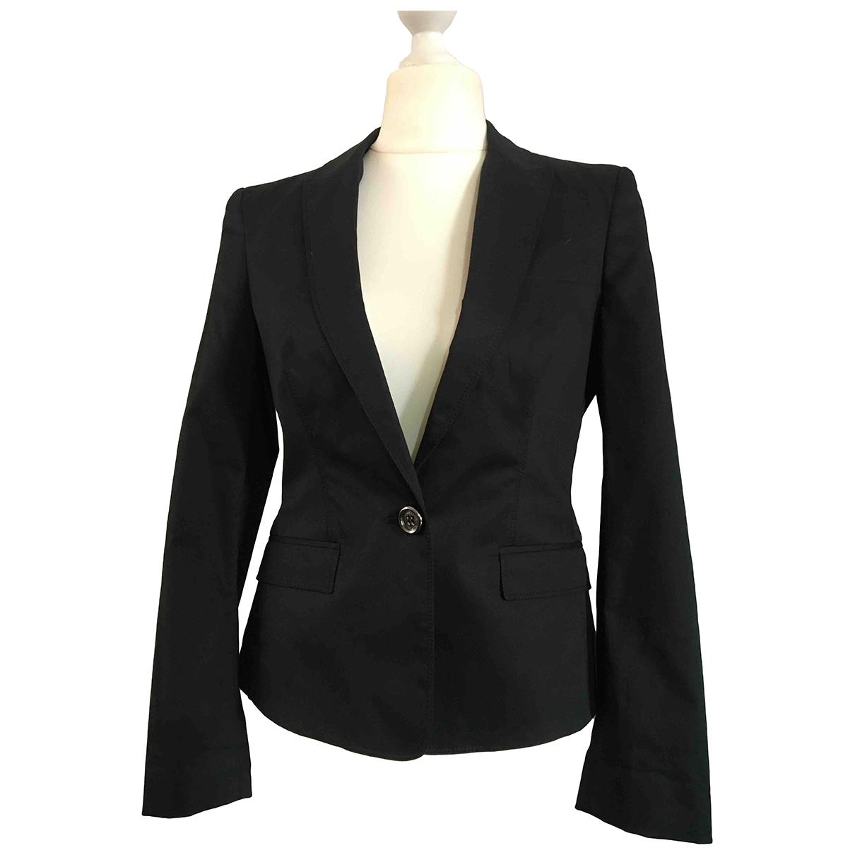 Burberry \N Black Cotton jacket for Women 42 IT