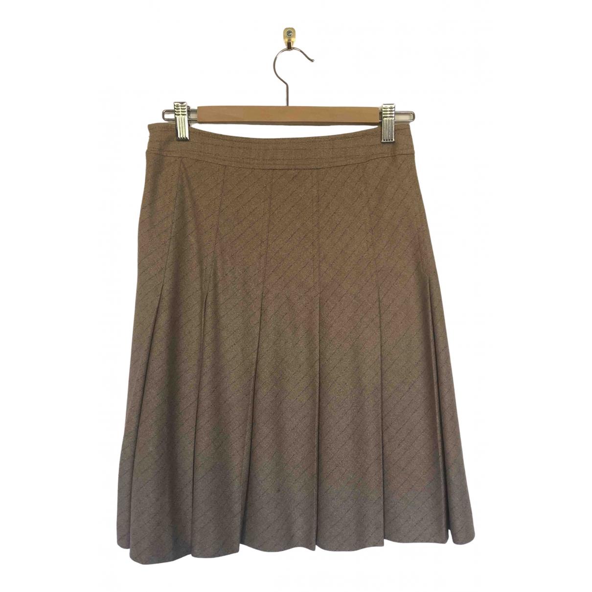Theory - Jupe   pour femme en laine - beige