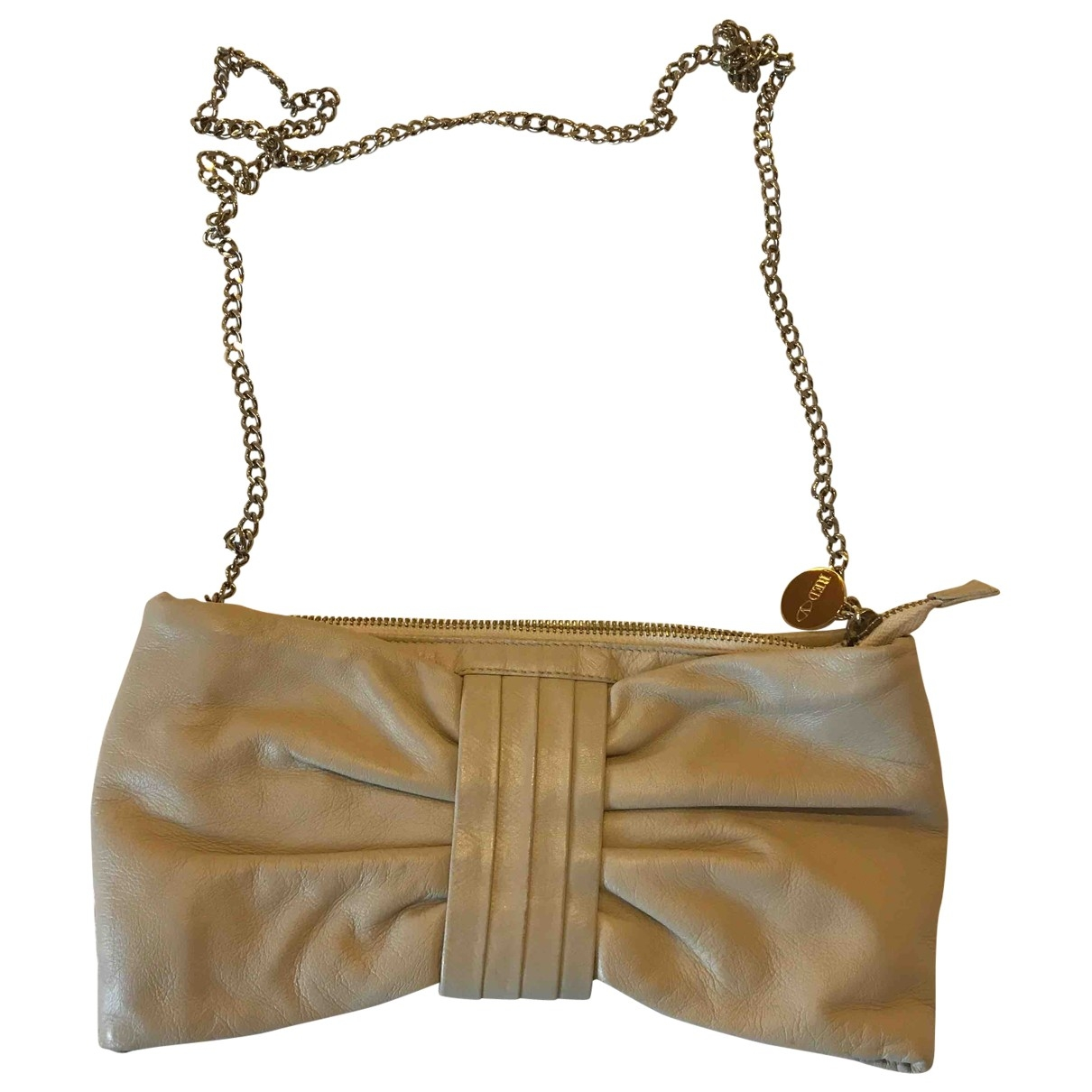 Red Valentino Garavani \N Clutch in  Beige Leder