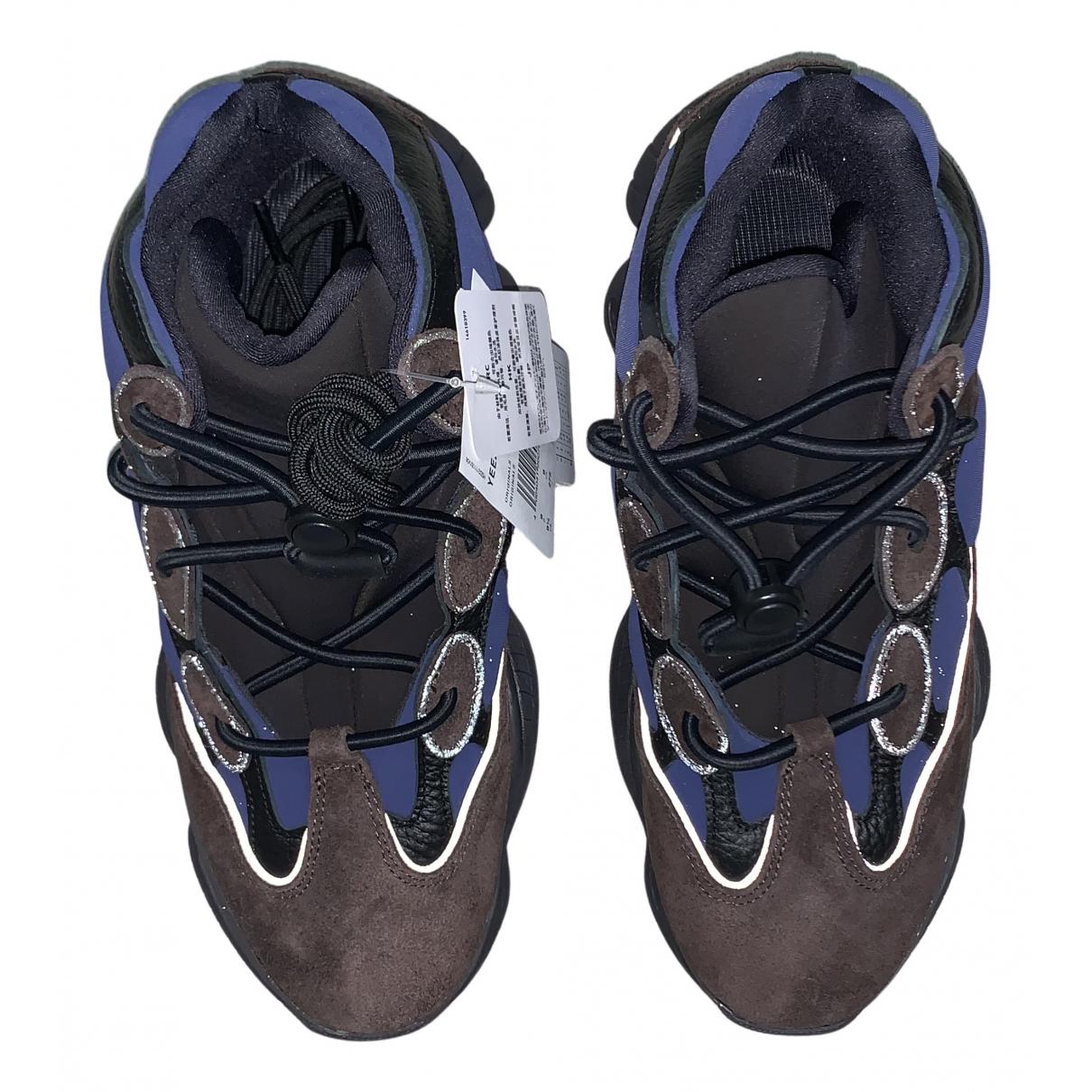 Yeezy X Adidas - Baskets 500 pour homme en cuir - marron