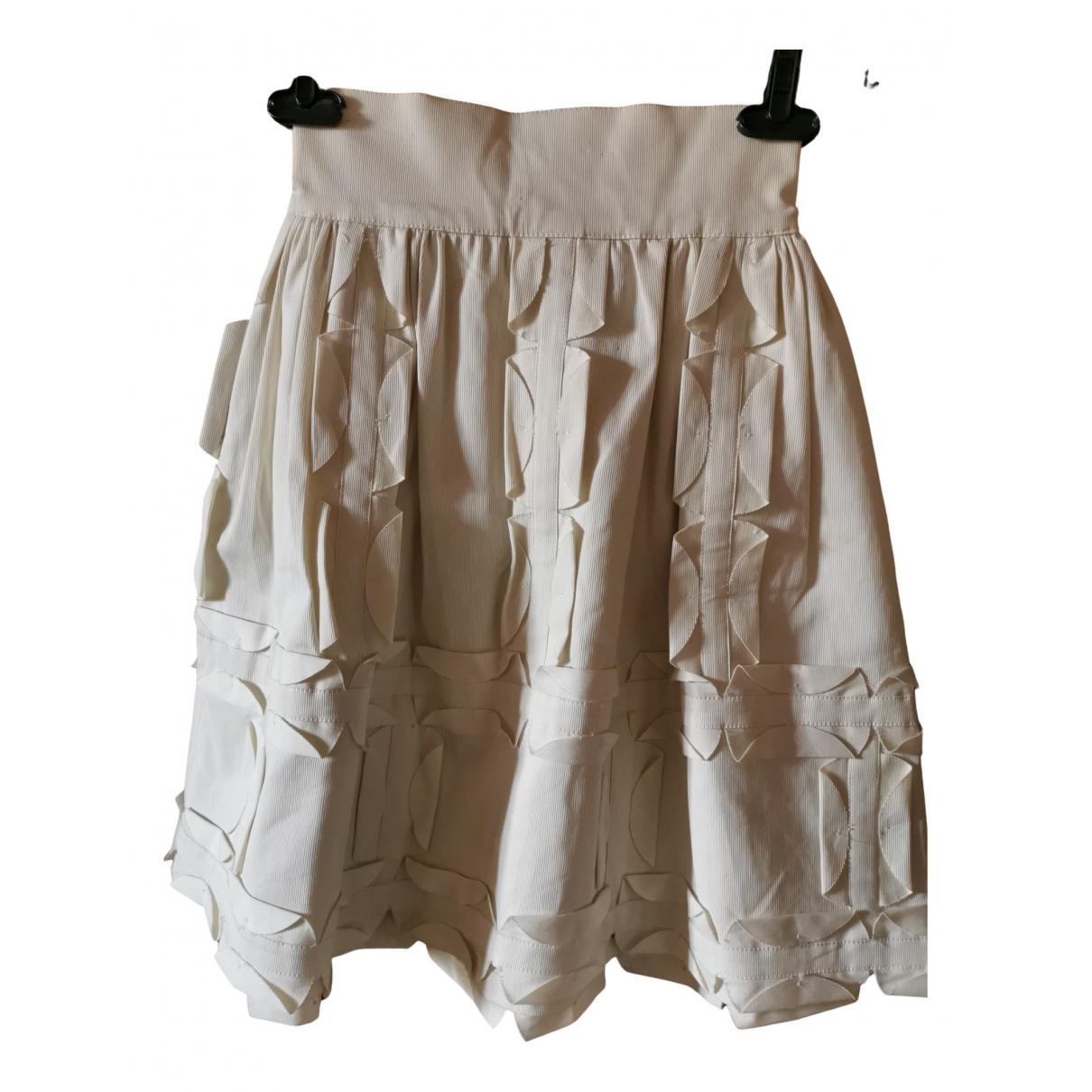 Fendi - Jupe   pour femme en coton - blanc