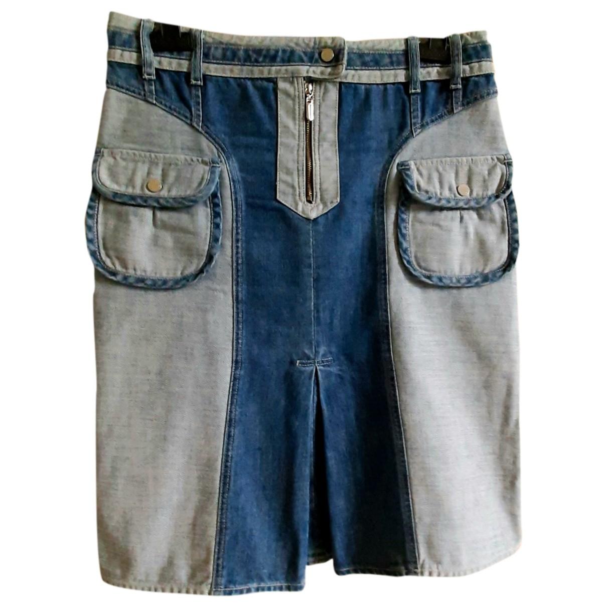 Non Signé / Unsigned \N Blue Denim - Jeans skirt for Women 46 IT