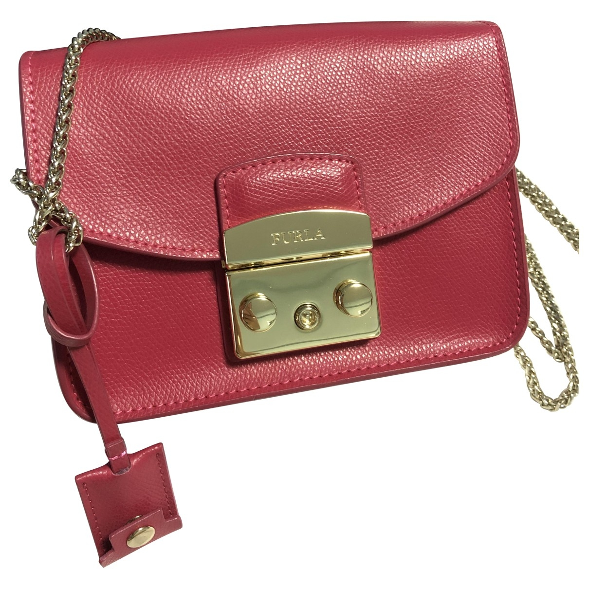 Furla Metropolis Handtasche in  Rot Leder