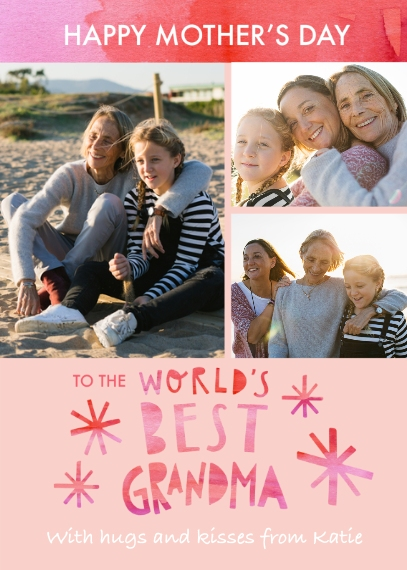 Mother's Day Cards 5x7 Folded Cards, Standard Cardstock 85lb, Card & Stationery -Worlds Best Grandma