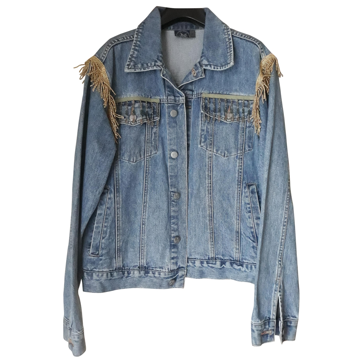 Non Signé / Unsigned \N Blue Denim - Jeans jacket for Women M International
