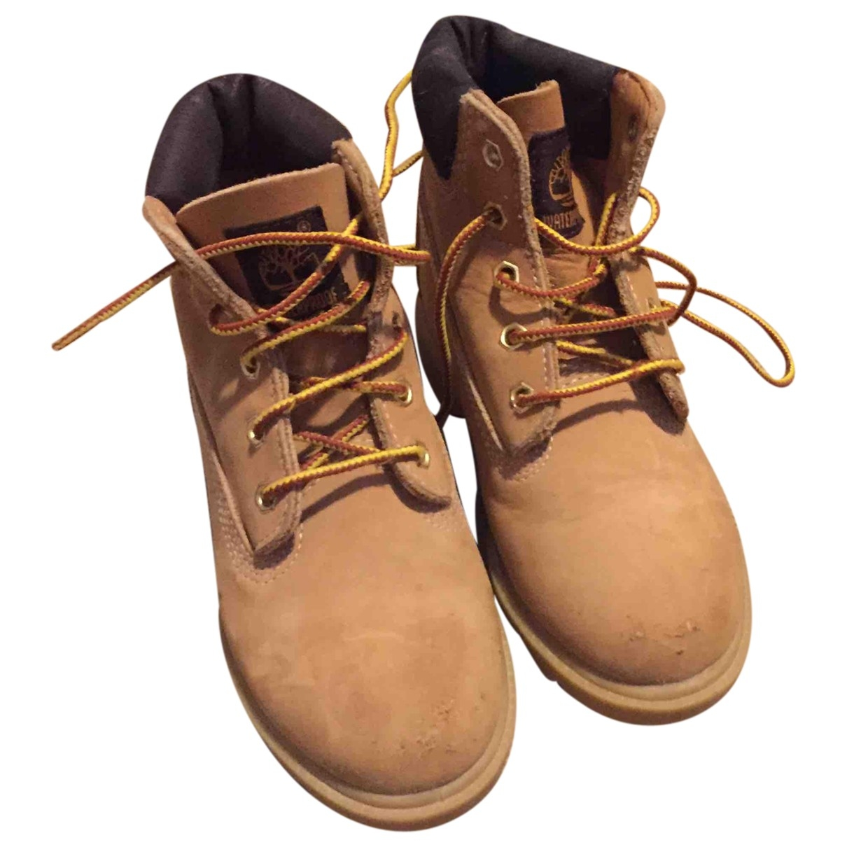 Timberland \N Beige Leather Boots for Kids 28 EU