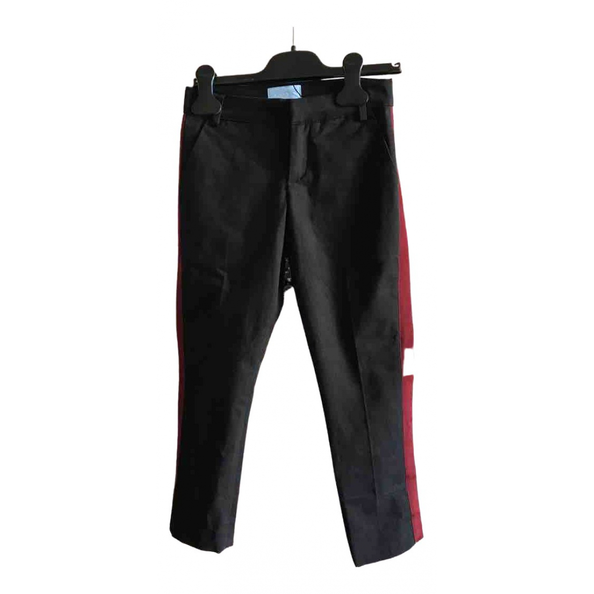 Pantalones en Algodon Azul Lanvin