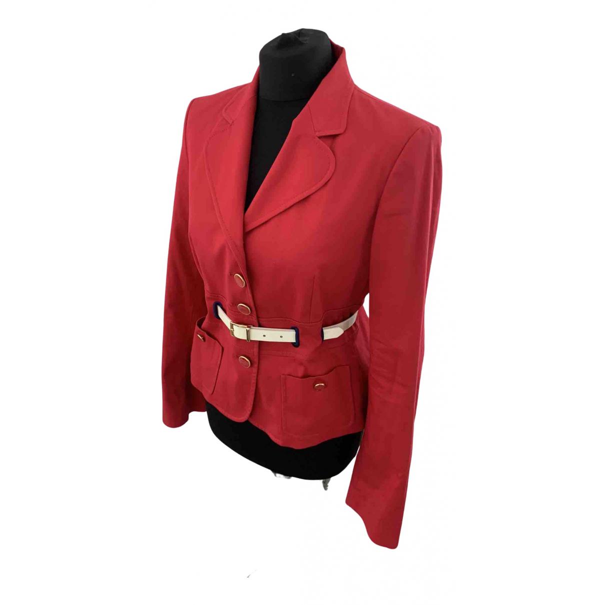 Moschino \N Jacke in  Rot Baumwolle